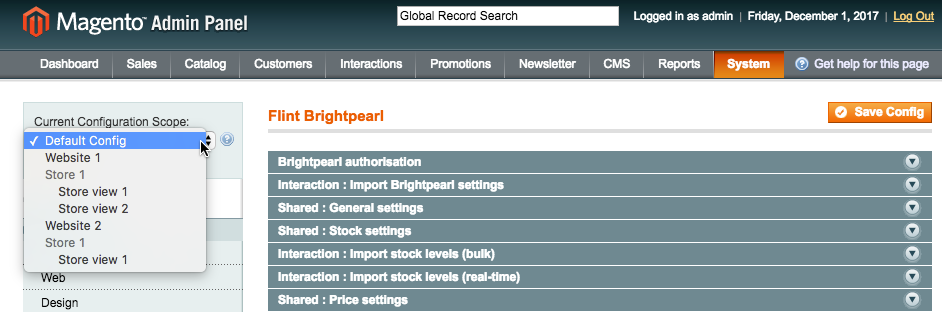 Configuring the Brightpearl Magento extension – Brightpearl
