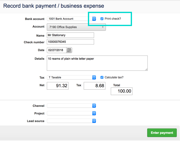 Bank Transactions Receipts Payments Transfers Brightpearl Help