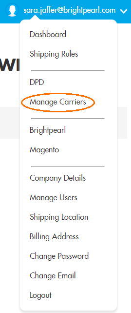 shiptheory manage carriers