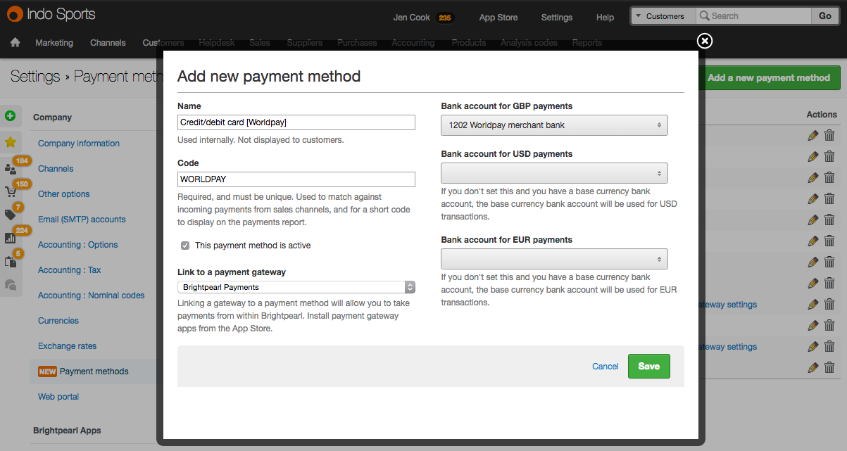 wp add payment method