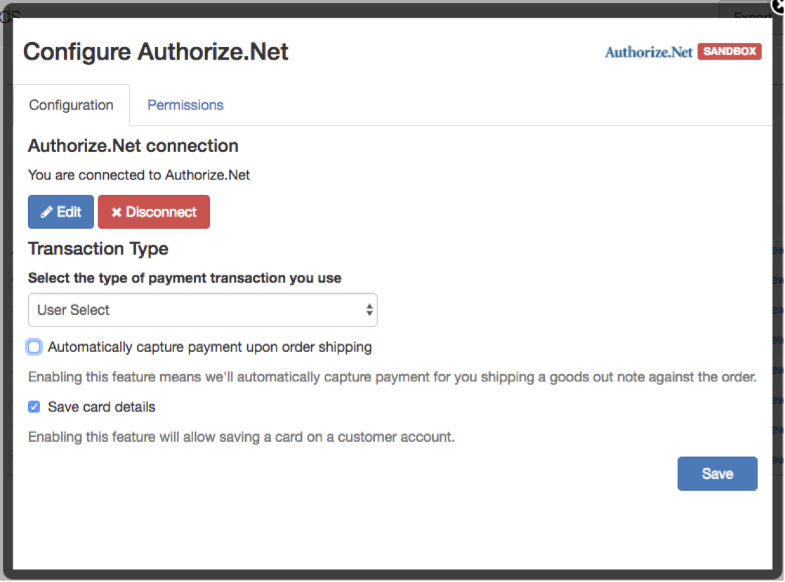 auth net set up