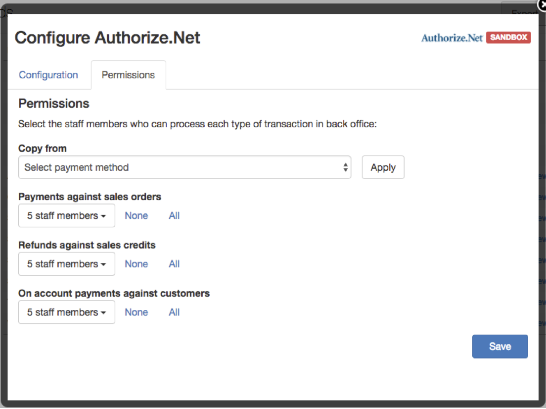 auth net permissions