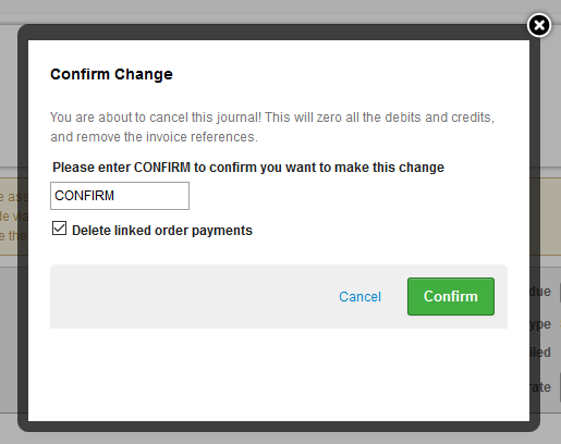 delete order payment